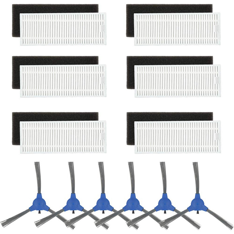 Replacement Parts Compatible Eufy Robovac 11S & Robovac 30 & Robovac 30C & Robovac 15C Accessories- 6 Set Filters And 6 Side BReplacement Parts Compatible Eufy Robovac 11S & Robovac 30 & Robovac 30C & Robovac 15C Accessories- 6 Set Filters And 6 Side B