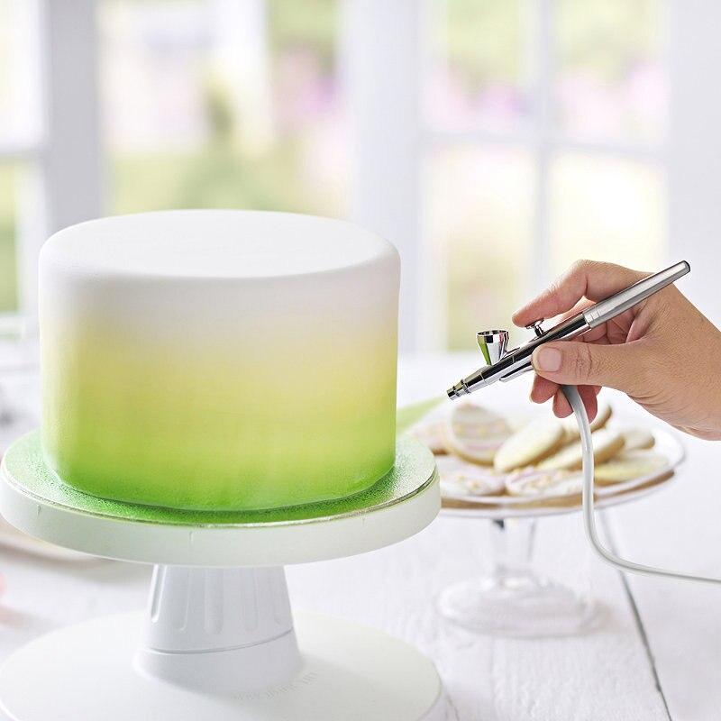 DIY baking color pigment air compressor airbush fondant chocolate cream cake tool