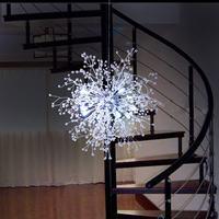 Smuxi 60cm Dandelion Chandelier Lighting LED White Light Pendant Hanging Lamp for Bedroom Exhibition hall Living Room Home Decor