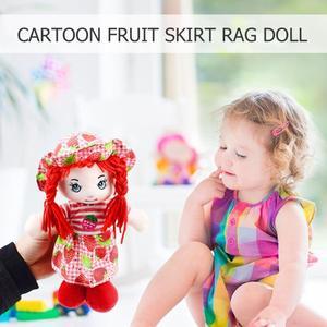 Image 3 - 25cm Cartoon Kawaii owoce spódnica kapelusz szmata lalki miękkie słodkie tkaniny nadzienie zabawki dla dziecka udawaj zagraj dziewczyny prezenty na urodziny, boże narodzenie