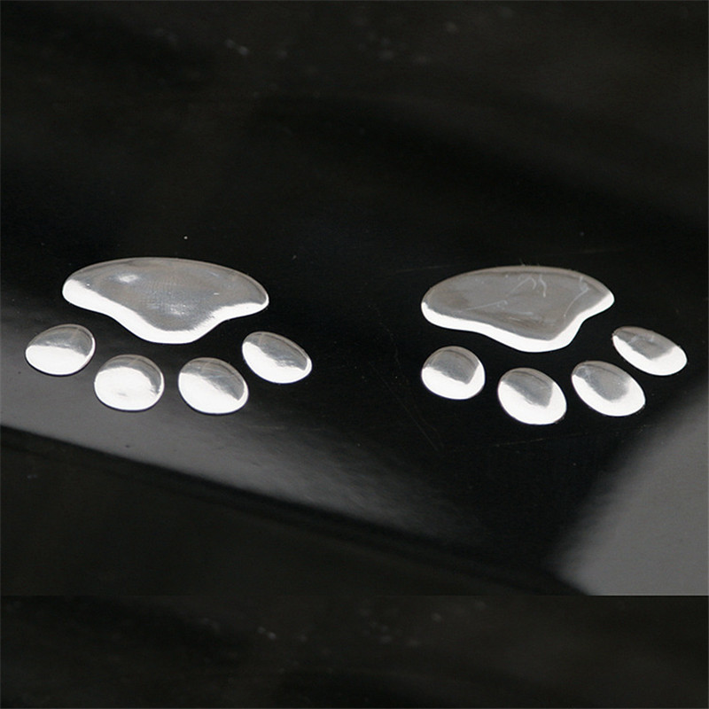 1 Paar Auto Aufkleber 3d Tier Hund Katze Bär Fuß Paw Drucke Fußabdruck Auto-styling Für Bmw E39 E46 Ford Focus 2 Toyota Passat B5 Letzter Stil