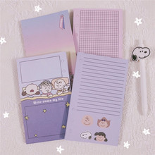 SIXONE 50 Sheets Cartoon Rogue Dog Loose Leaf Notebook Inner Page Handbook Internal Paper Diary Kawaii School Stationery ezone 5 sheets a6 6 holes notebook s index page paper separator page loose leaf book category page planner stationery papelaria