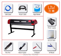 China 24inch Cad Garment Auto Contour Vinyl Cutter And Press Apparel Cutting Plotter wifi camera auto