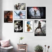 Rise Of The Tomb Raider Game Poster And Print Canvas Art Painting Wall Pictures For Living Room Decoration Home Decor No Framed цена и фото