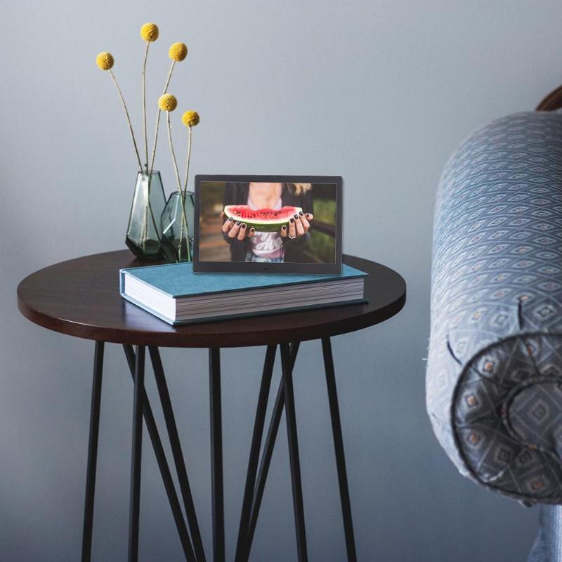 Новый 12 дюймовый цифровой металлическая рамка для фото HD 1280x800 электронное изображение часы календарь удаленного Управление Встроенный циф