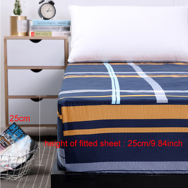 New Fitted Sheet On Elastic Band Mattress Cover with All-around 2