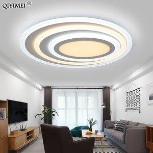 Image 2 - Luces Led de techo de atenuación, Control remoto, modernas, para sala de estar, dormitorio, forma ovalada, 5 tamaños, nuevas lámparas de techo de diseño
