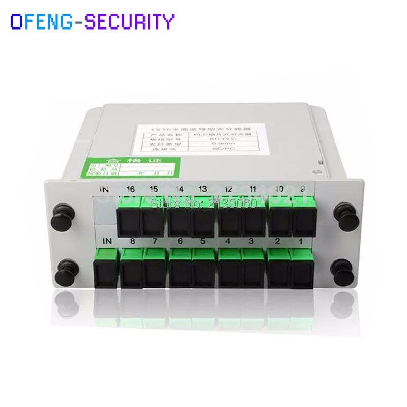 SC APC 1X16 PLC Splitter Fiber Optical Box FTTH PLC Splitter, Divisor Del Plc De La Fibra Optica