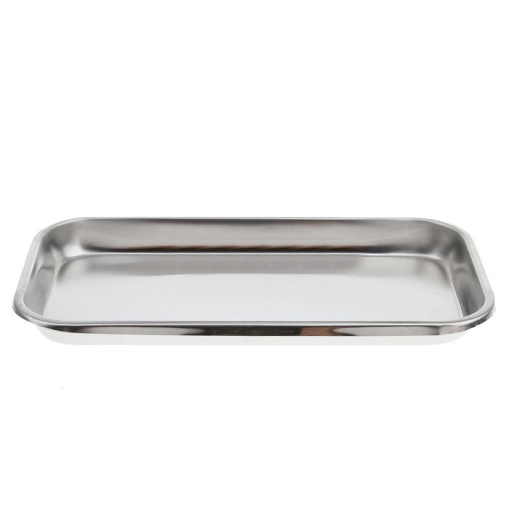 Stainless Steel Dental Holder Plate Dish Dentistry Instrument Lab Surgical Tray Dental Equipment