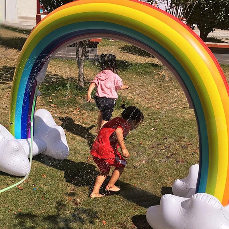 Jouet d'arrosage Portable arc-en-ciel gonflable innovant pour enfants jouet gonflable pour enfants - 3