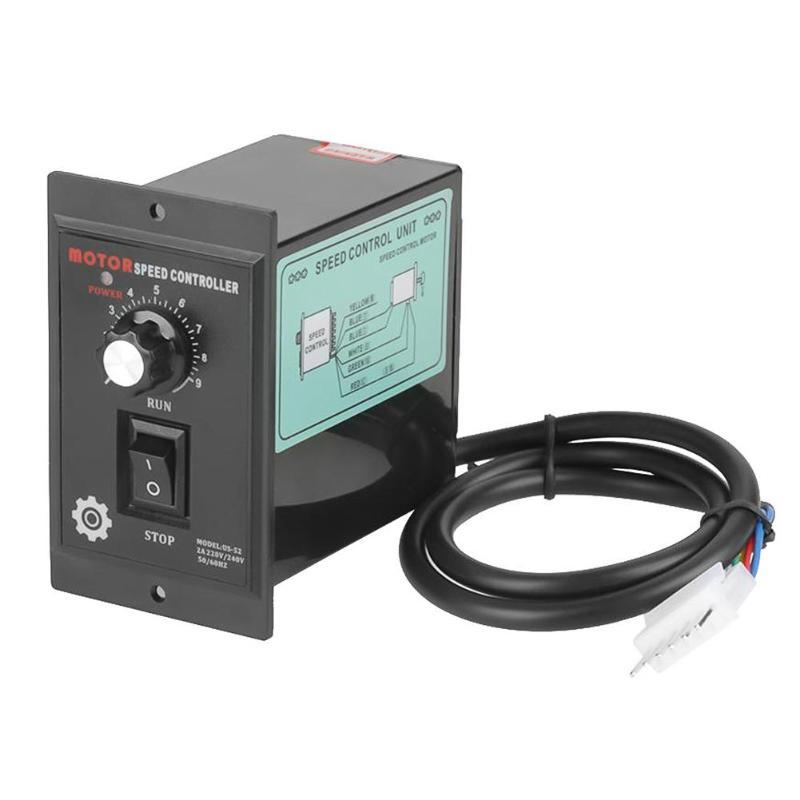 400 W AC 220 V controlador de velocidad del Motor para Motor de CA Digital ajustable Stepless velocidad del Motor regulador 0-1450 rpm controlador de velocidad