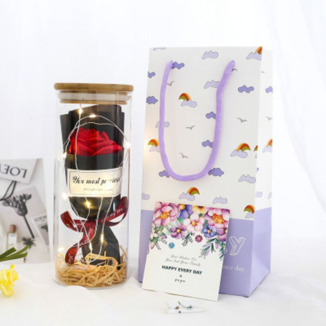 Creative Artificial Preserved Flower Soap Flower With Light Valentine 39 S Day Mother 39 s Day Gift For Wowen 4 Types Can Choose in Artificial amp Dried Flowers from Home amp Garden