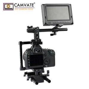 Image 2 - Extensão de camvate cheeseplate com padrão 15mm única haste braçadeira para lanterna led/monitor/microfone/led luz de montagem