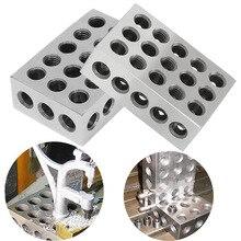 """Juego de bloques de acero endurecido de 0,0001 """", herramienta de fresado de precisión combinado, 123, 23 agujeros, 1 2 3"""", 1 unids/set"""