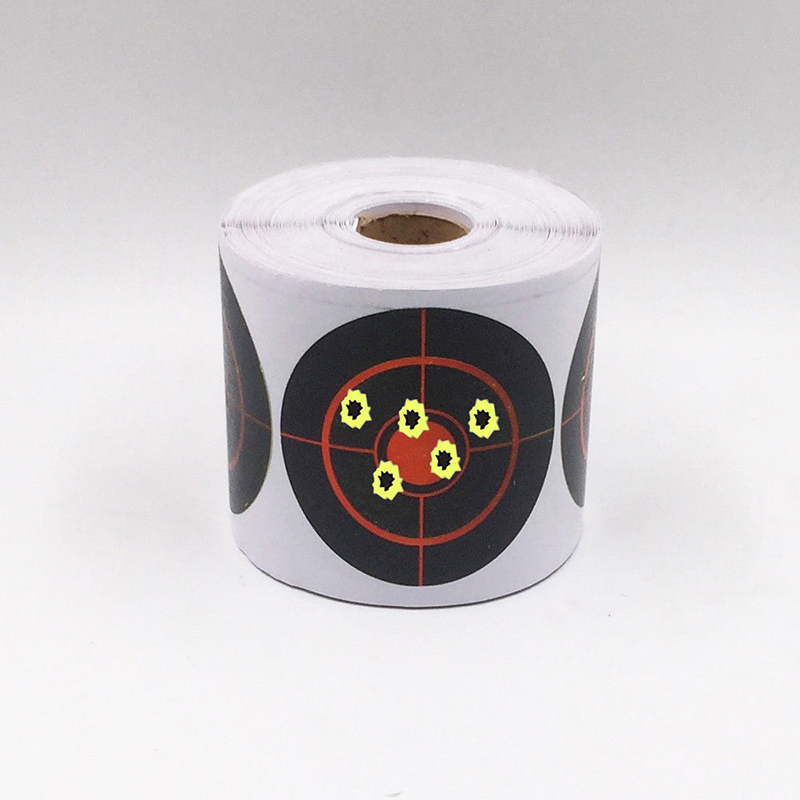 250pcs/Roll Precise Shooting Targets Splatter Reactive Target Sticker 7.5cm Diameter Adhesive Shooting Sticker