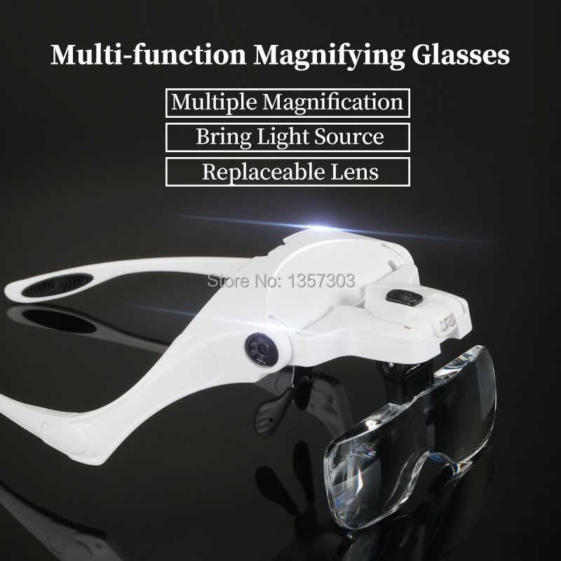 Eyelash Extension 5 Lens Adjustable Headband Magnifying