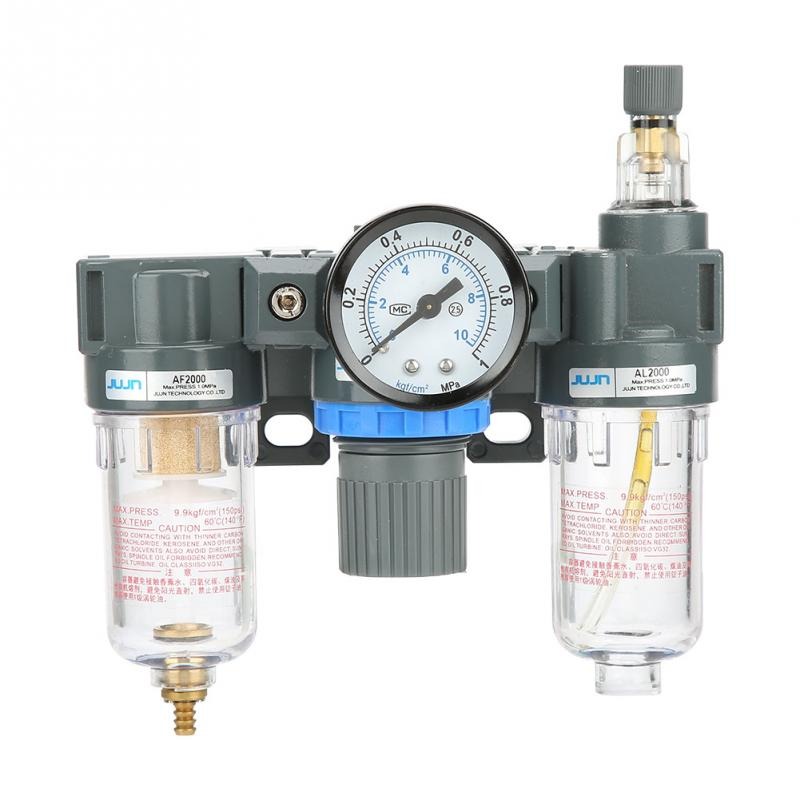 Sanitär Der GüNstigste Preis 1/4 themen Luft Quelle Gas Behandlung Einheit Filter Druckregler Ventil Mit Manometer Fabriken Und Minen