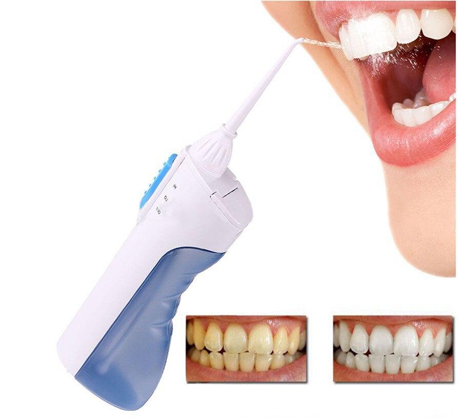 Ирригатор для полости рта Портативный воды стоматологических Flosser струи воды, очистки зубов мундштук протез во рту очиститель зубной щетки ...