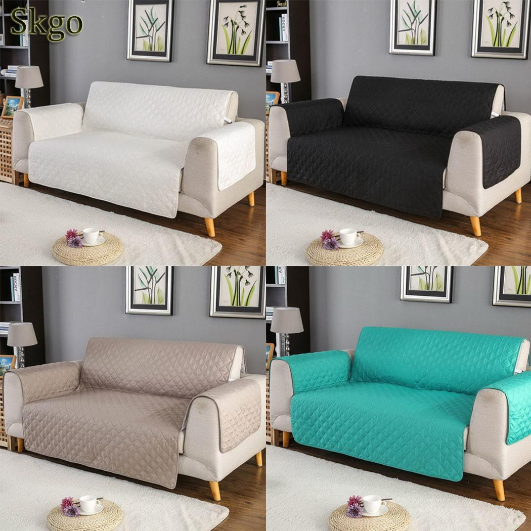 Household Solid Removable Lattice Sofa Cover Buckle Pets Dog Square Sofa Places 120g Spray Cotton