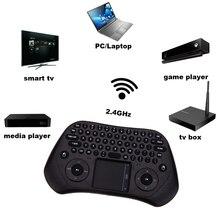 Measy GP800 2,4 ГГц Беспроводная игровая клавиатура умная воздушная мышка Tochpad пульт дистанционного управления для Android tv Box/ноутбука/планшетного ПК