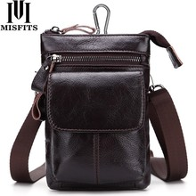 2017 NEW Genuine Leather Men Bags Vintage Belt Waist Pack Men Shoulder Crossbody Bag Male Messenger Bags Phone Small Waist Bag brand hand made genuine crazy horse leather small cross body shoulder bag men s messenger bags male waist belt pack for travel