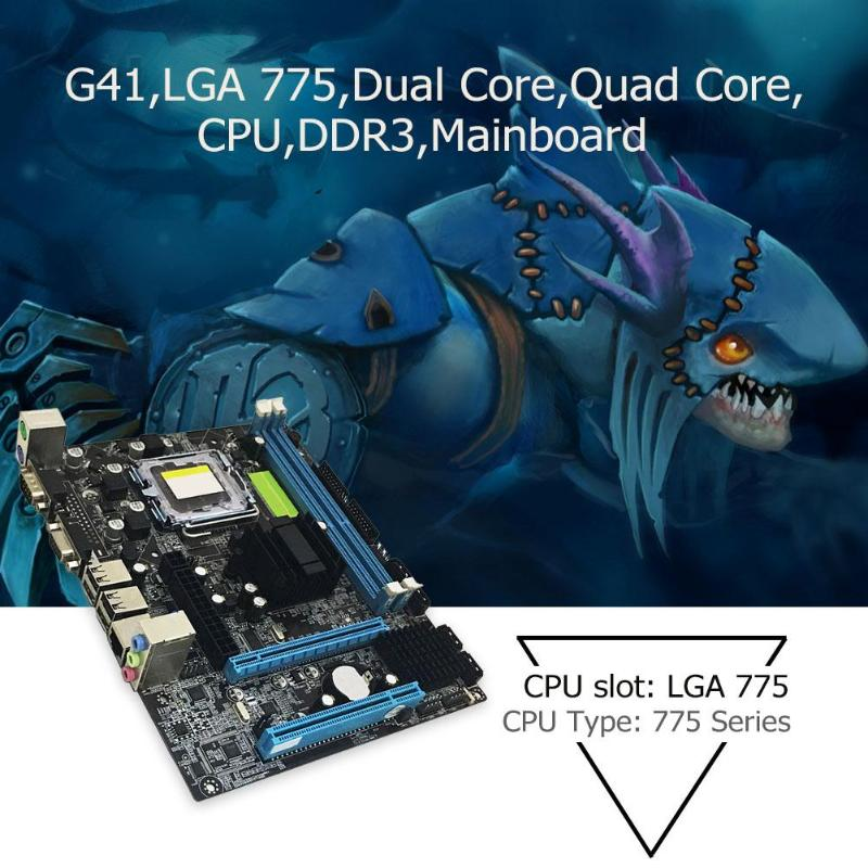 G41 LGA 775 Gaming Motherboard 775 Dual Core Quad Core CPU Motherboard 775 DDR3 High Performance Desktop Gaming Mainboard image