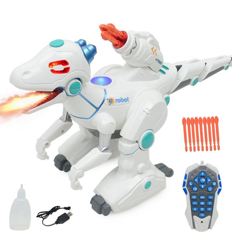 Modèle Animal de Simulation Électrique Dinosaure Jouet Multifonctionnel Spray Rechargeable Télécommande Dinosaure