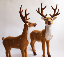 35cm christmas deer noel natal doll flock cloth family decoration toy Santa Claus ornaments sika Noel