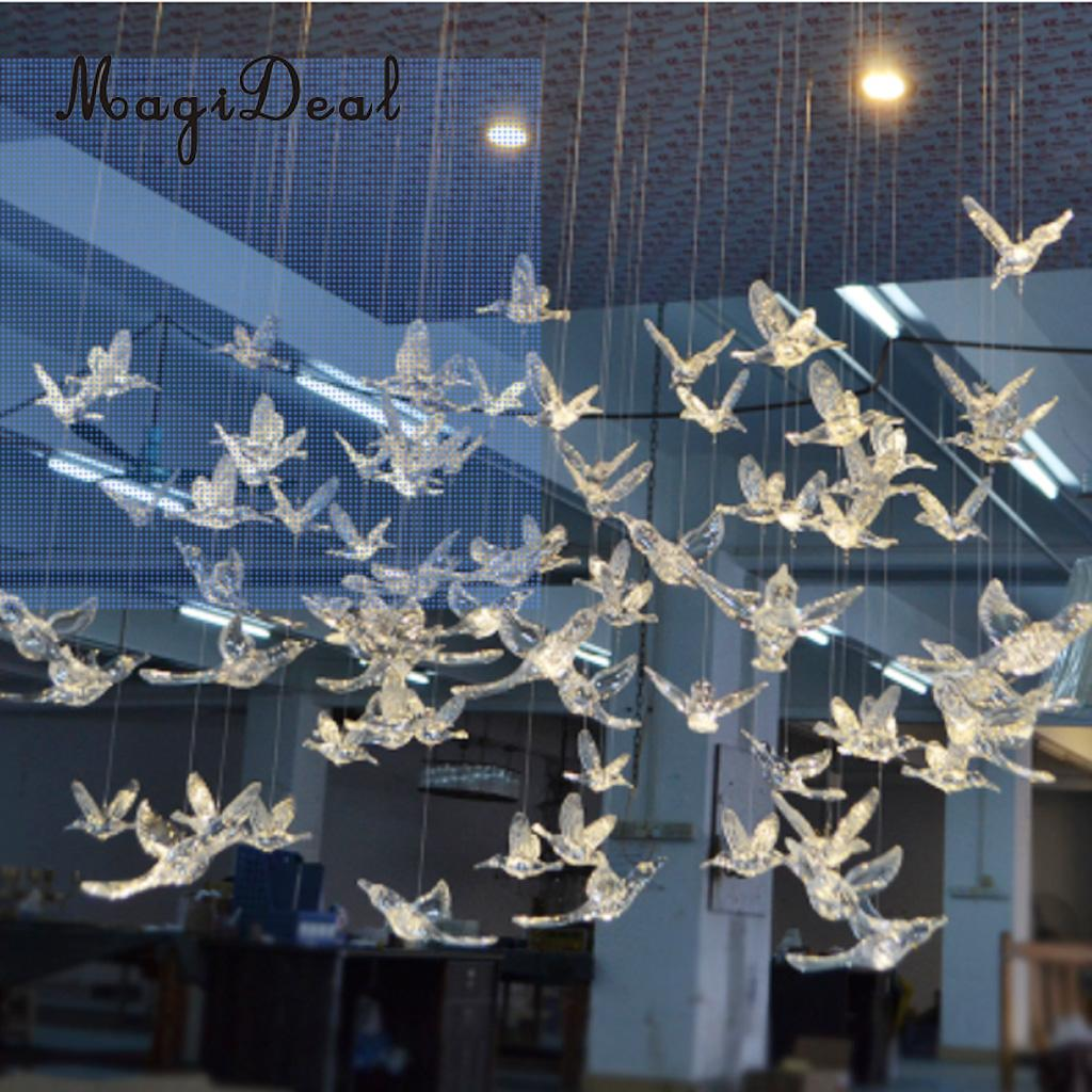 MagiDeal Flying Birds Resin Wall Hanging Decor Handcraft Wall Decor Crystal 10 Colors PICK For Home Bedroom Kids Room Decor