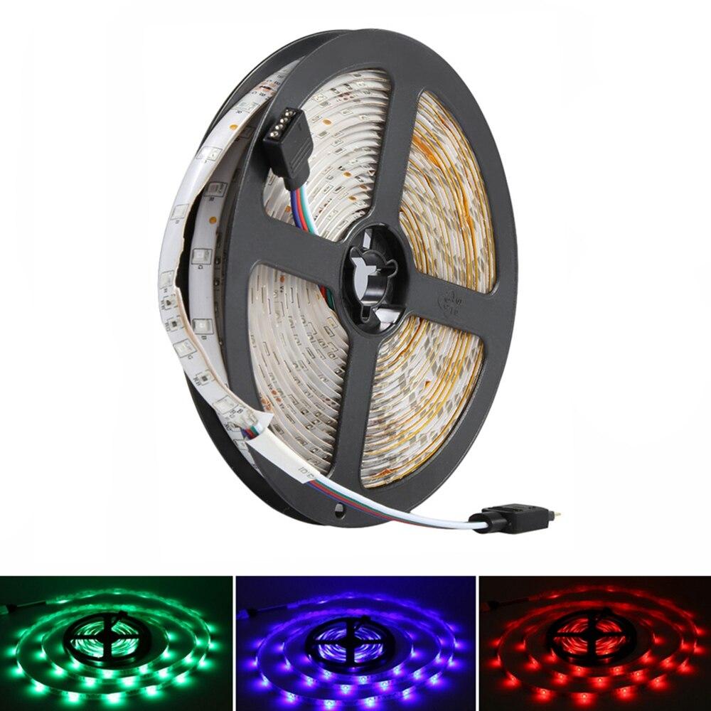Led Lighting 5m 300leds Rgb Led Strip Light 3528 Dc12v 60leds/m Fiexble Light Led Ribbon Tape Home Decoration Lamp Drop Shipping Led Strips