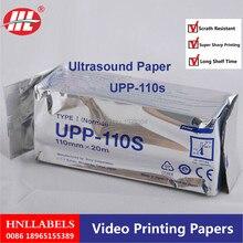 10X рулонов UPP-110S для принтера SONY 110 мм* 20 м Высокое качество Upp 110s Сони сопливый ультразвуковой рулон термобумаги