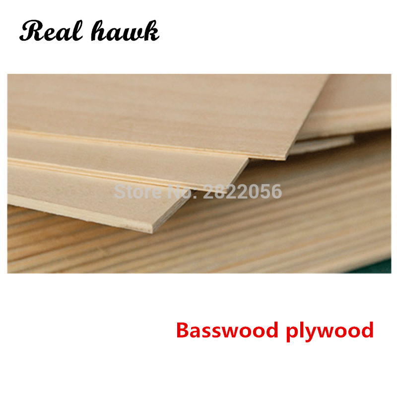 420x297x1/1.5/2/3/4/5/6mm Super Quality Aviation Model Layer Board Basswood Plywood Plank DIY Wood Model Materials