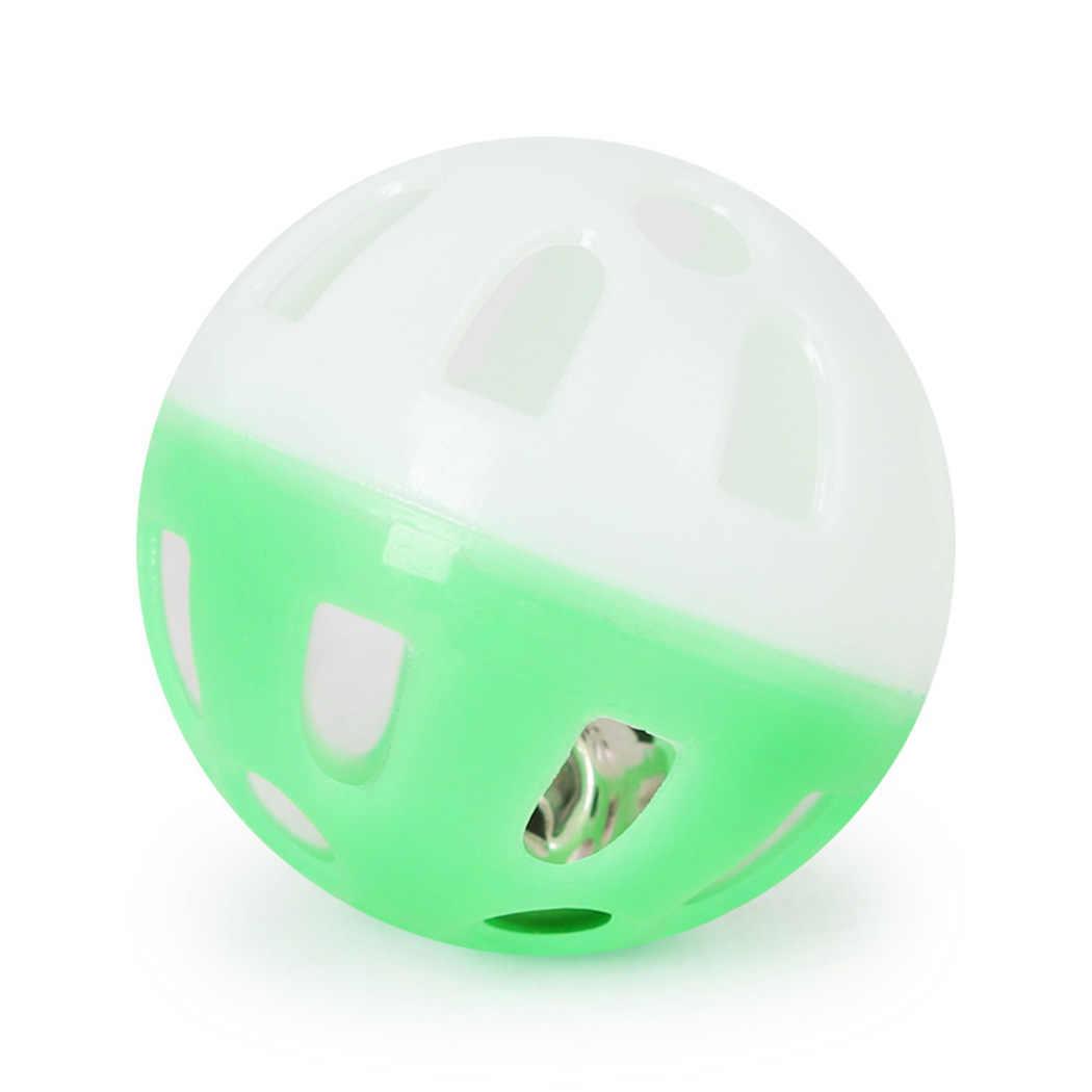 1 stks Huisdier Speelgoed Kat Hollow Bell Bal Papegaai Speelgoed Vogel Hollow Bell Bal Voor Parkiet Valkparkiet Kauwplezier Kooi willekeurige Kleuren 2019 Nieuwe