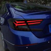 Автомобильный Стайлинг задний фонарь для Honda для Accord 2018 2019 задние фонари светодиодный задние фонари Чехол задний фонарь задний Магистральн