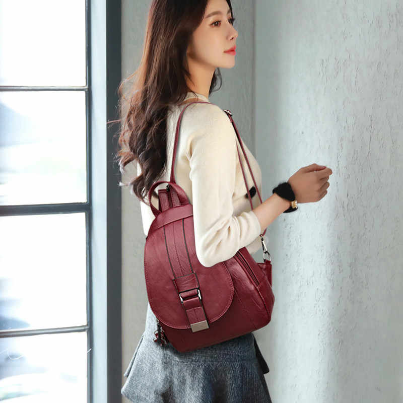 2019 Женские винтажные рюкзаки для школы маленькая сумка в сдержанном стиле женский рюкзак для девочек-подростков Sac a Dos Softback Новинка
