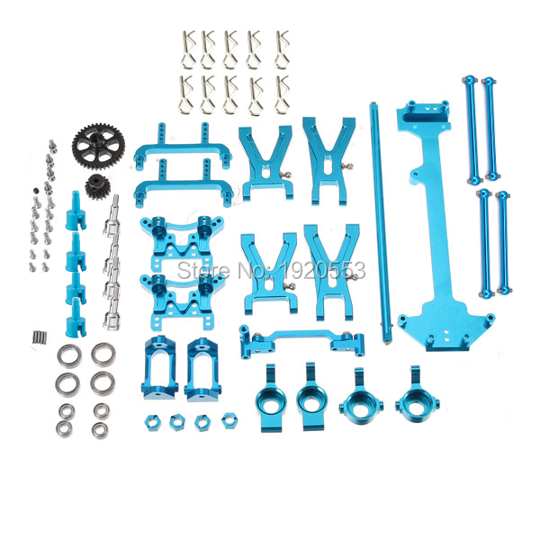WLtoys 1/18 A949 A959 A969 A979 K929 actualizado de Metal Kit de piezas principales engranajes brazo frente dirección trasera rueda Hub c, en el asiento-in Partes y accesorios from Juguetes y pasatiempos    1