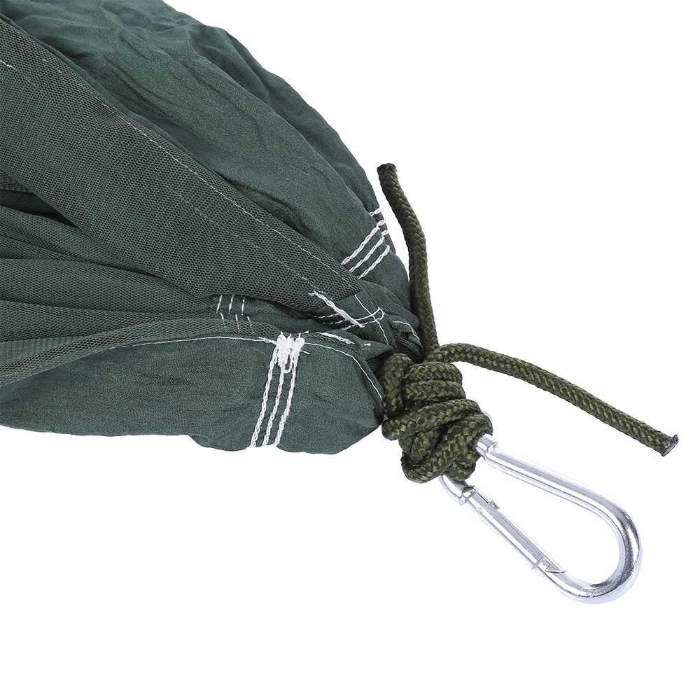 260x140 см портативный два человека парашют ткань гамак с сеткой от насекомых для внутреннего использования на открытом воздухе