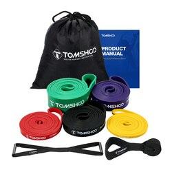 TOMSHOO Эспандеры Elasticas para ejercicio pull up вспомогательные полоса эластичные для фитнес, тренировки, Спорт тренажерного оборудования