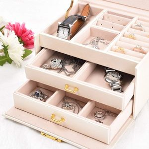 Image 3 - Jewelry box Case / boxes / makeup box, jewelry and cosmetics beauty case with 2 drawers 3 layers
