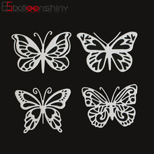 BalleenShiny DIY 4pcs/set Butterflies Metal Cutting Die Embossing Stencil Scrapbook Paper Decorative Craft Card Template