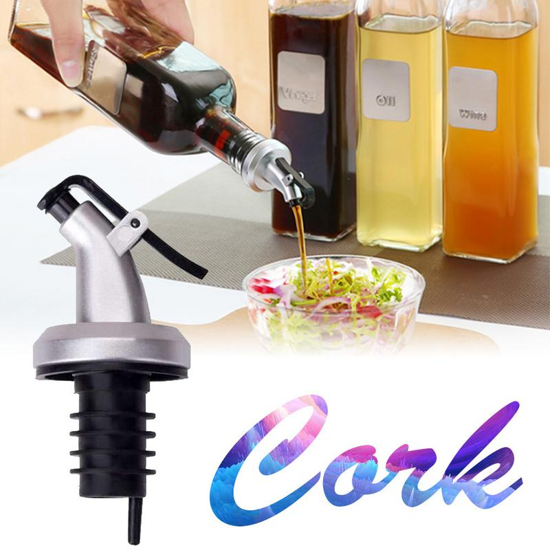 Environmental Oil Stopper Vinegar Bottles Can ABS Lock Plug Seal Leak-proof Food Grade Plastic Nozzle Stopper Cork Kitchen Tools