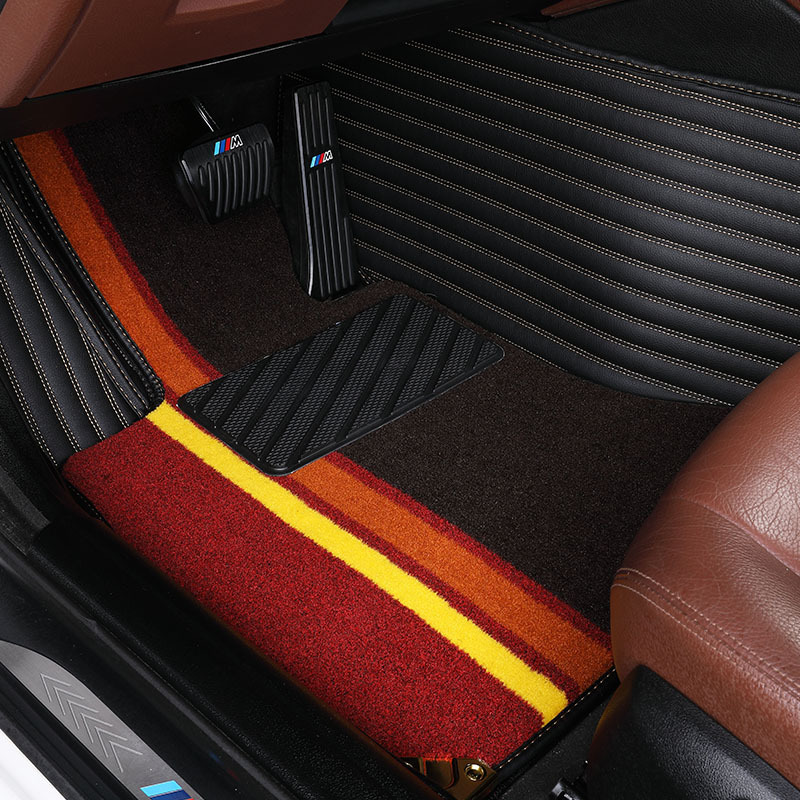 Myfmat custom foot leather NEW CAR floor mats for BORA MAGOTAN BEETLE PHAETON TERAMOUT CC CADDY GOLF COMBI VR6 SAGITA PHIDEON UP