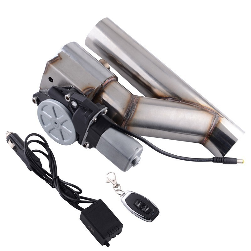 ESPEEDER Universal 2 Exhaust System Stainless Steel Exhaust Y-Pipe Cutout Valve Exhaust Cut Out With Wireless Remote ControlESPEEDER Universal 2 Exhaust System Stainless Steel Exhaust Y-Pipe Cutout Valve Exhaust Cut Out With Wireless Remote Control