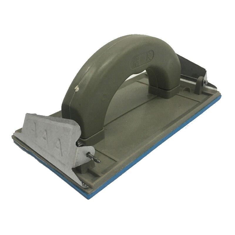 Plastic Plastering Trowel Shaped Blue Base Sand Paper Frame Whit Clips