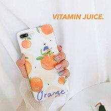 XINDIMAN 2019 Summer Fresh case for iphone6 cover Orange silicone iphone7 7plus 8 8plus backcover iphoneX 6s 6plus