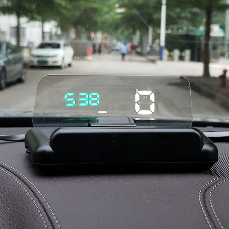 Car C500 5 inch OBD2 HUD Head-up Display Overspeed Warning Voltage Alarm HD Smart Projector Head Up Display for Safe Driving