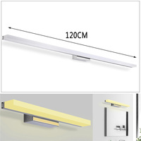 120cm 20W 96 LED Mirror Front Lamp Morden Bathroom Toilet Vanity Wall Makeup Light Wall Lamp Stainless Steel 1600LM 85 265V