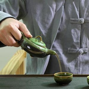 Image 2 - 中国カンフー茶は、セラミック釉薬ティーポット磁器 Teaset ポータブル茶カップ茶道の茶器のためのギフトセット友人