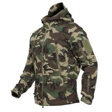 Дропшиппинг плюс Размеры XS-5XL мягкой оболочки тактические военные куртки Для мужчин Куртка из искусственной кожи PU камуфляжные армейские уличная одежда для кемпинга