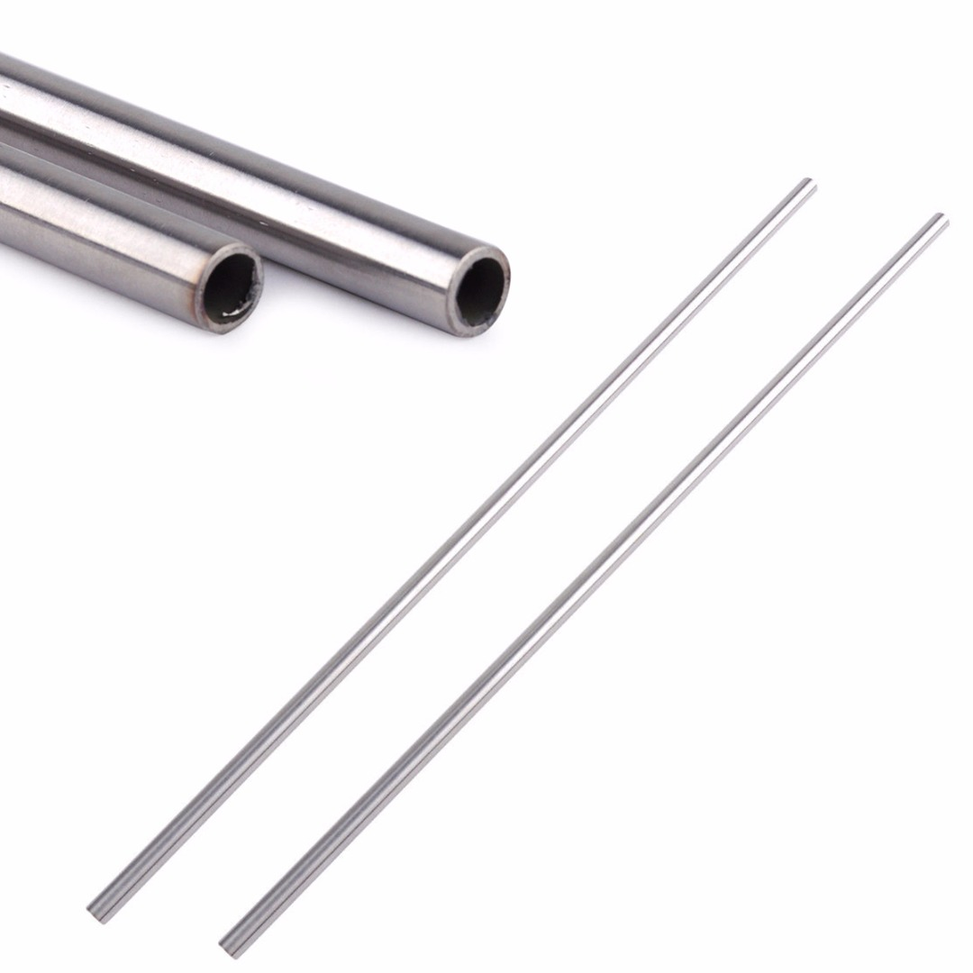 DWZ 2pcs New Stainless Steel Capillary Round Tube Pipe OD 10mm ID 8mm Length 500mm